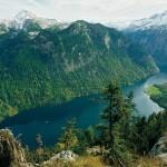 Blick auf den Königssee von der Achenkanzel - Nationalpark Berchtesgaden