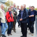 Evaluierungskomitee auf dem Baumkronenpfad des Nationalparks Hainich