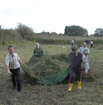 Freiwillige im Naturpark Barmin