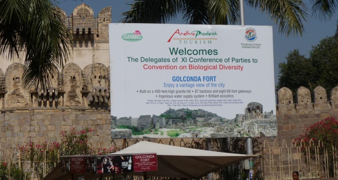 Der indische Bundesstaat Andhra Pradesh heißt die Delegierten der COP 11 willkommen, Quelle: EUROPARC Deutschland