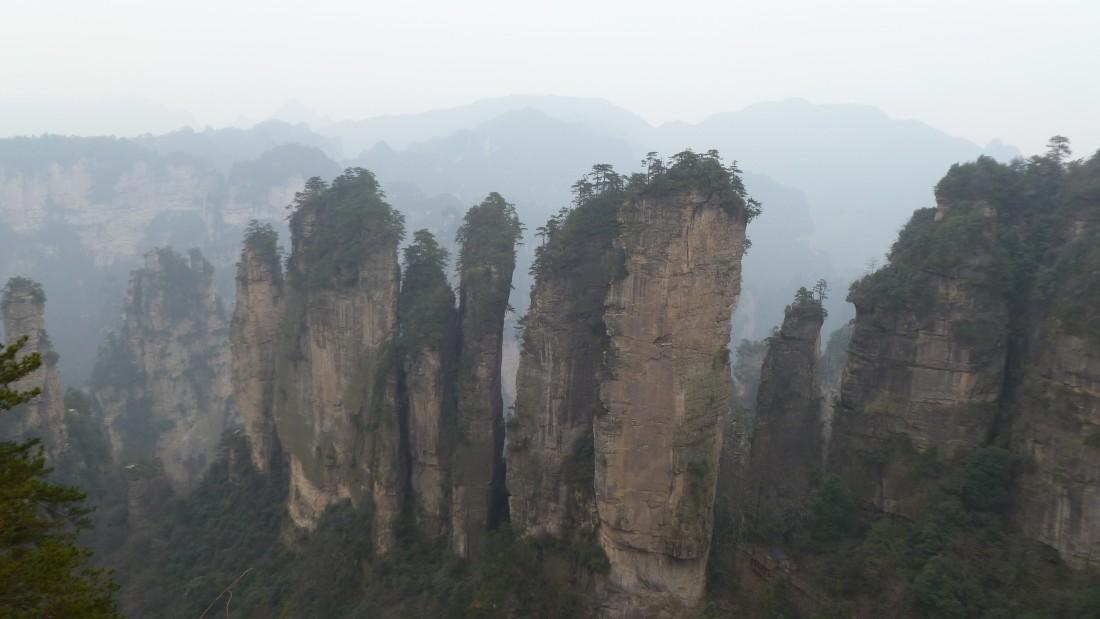 Atemberaubende Felsenlandschaft von Chinas erstem Forest National Park Zhangjiajie