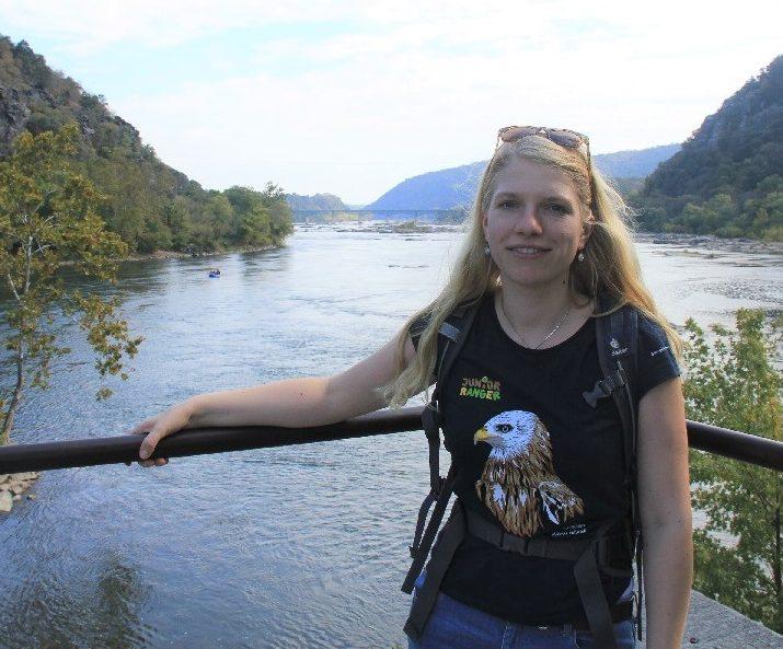 Mit Katharina Sabry nahm auch eine Repräsentantin des Dachverband der Nationalen Naturlandschaften teil, hier im Harper's Ferry National Historical Park. Foto: EUROPARC Deutschland.