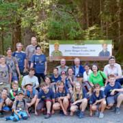 Gruppenbild beim zehnten bundesweiten Junior-Ranger-Treffen