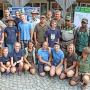 Gemeinsam mit den tschechischen Partnern sowie zwei Ranger*innen aus Jamaika konnte eine Trainingswoche zum World Ranger Day 2018 organisiert werden. - Foto: Gregor Wolf